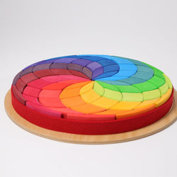 Grimms Large Colour Spiral Mandala - Number Play - The Modern Playroom