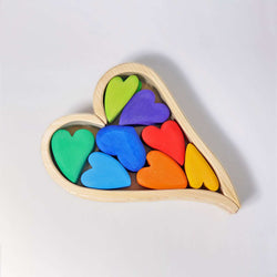 Grimms Grimm's Rainbow Hearts - Number Play - The Modern Playroom