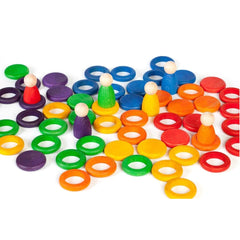 Joguines Grapat Rainbow Nins, Rings & Coins - Number Play - The Modern Playroom