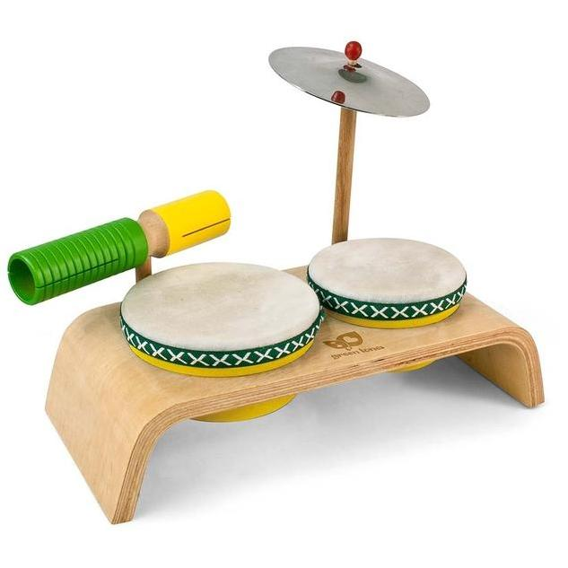 Green Tones Drum Set - Music Play - The Modern Playroom