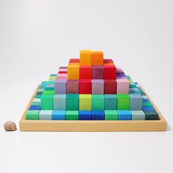 Grimms Building Set Large Stepped Pyramid - Number Play - The Modern Playroom