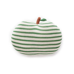 Oeuf NYC Apple Pillow - White/Juniper Stripes -  - The Modern Playroom