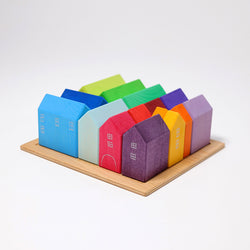 Grimms Small Wooden Houses - Number Play - The Modern Playroom