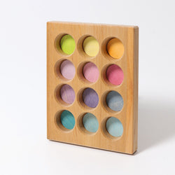 Grimms Sorting Board Pastel - Number Play - The Modern Playroom