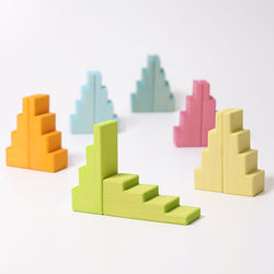 Grimms Stepped Roofs Pastel - Number Play - The Modern Playroom