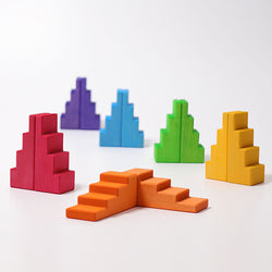 Grimms Stepped Roofs Rainbow - Number Play - The Modern Playroom