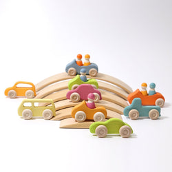 Grimms Wooden Cars Slimline - Number Play - The Modern Playroom