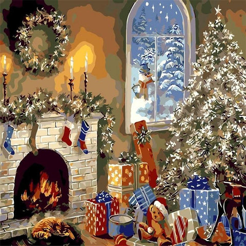 A Cozy Christmas - Paint by Numbers Kit