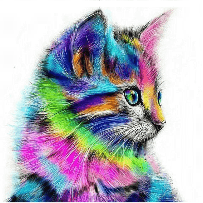 Abstract Cat - Diamond Art Kit