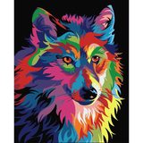 Abstract Wolf - Diamond Art Kit