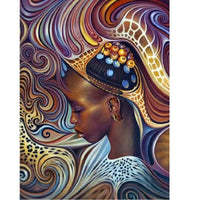 African Beauty In Headdress - Diamond Art Kit
