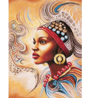 African Beauty With Red Necklace - Diamond Art Kit
