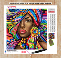African Woman - Diamond Art Kit