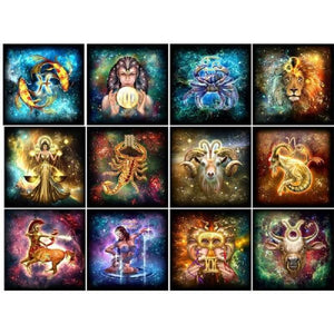 Zodiac Signs Collection 2 - Diamond Art Kit
