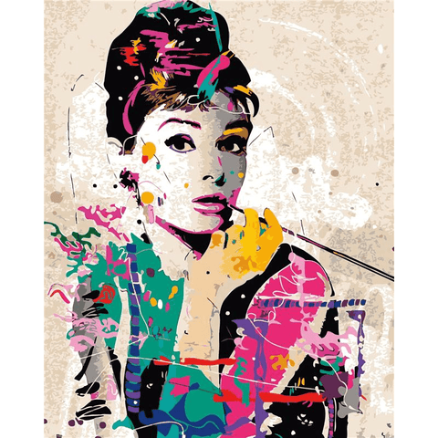 Audrey Hepburn - Paint by Numbers Kit