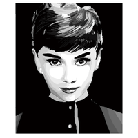 Audrey Hepburn in Black and White
