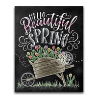 Beautiful Spring Blackboard - Diamond Art Kit