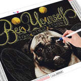 Bee Yourself Pug - Diamond Art Kit