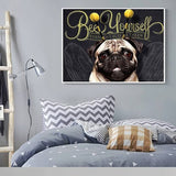 Bee Yourself Pug On Wall