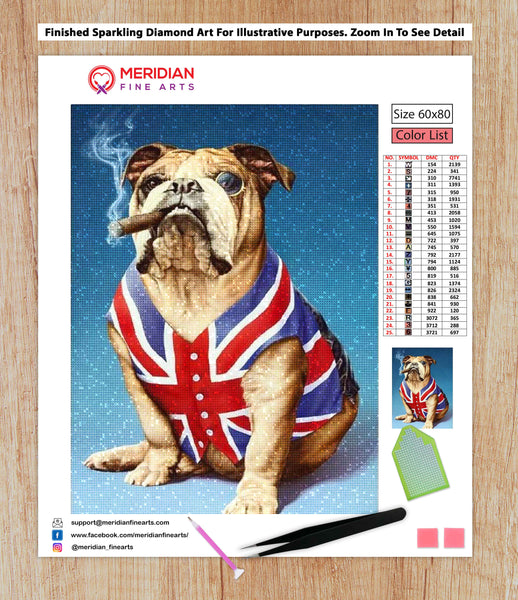 British Bulldog - Diamond Art Kit