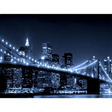 Brooklyn Bridge with Lower Manhattan Night Skyline