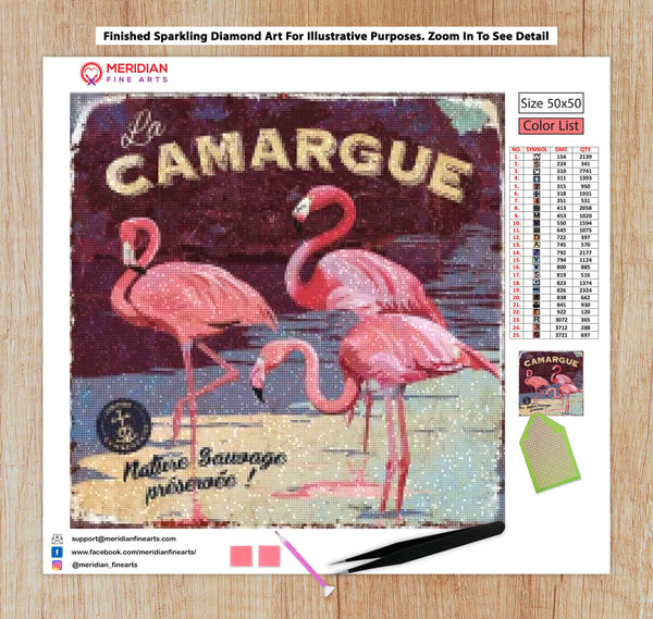 Camargue Flamingoes - Diamond Art Kit