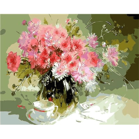 Carnation Flowers - Paint by Numbers Kit