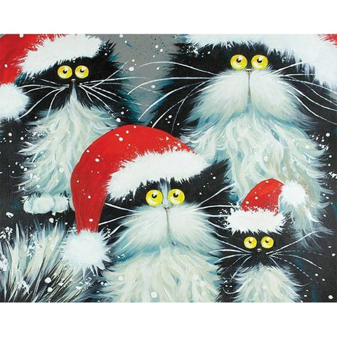 Christmas Cats - Paint by Numbers Kit
