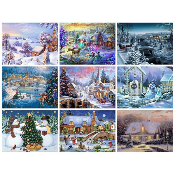 Christmas Landscape Diamond Art Collection 2