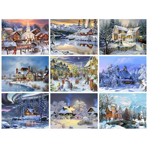 Christmas Landscape Diamond Art Collection 3