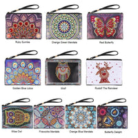 Collection Of Small Leather Clutch Bags With Wristlet - Diamond Painting