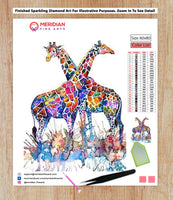 Colorful Giraffe 2 - Diamond Art Kit