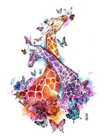 Colorful Giraffe 3 - Diamond Art Kit