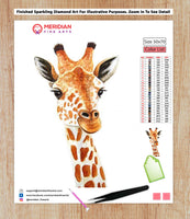 Colorful Giraffe 7 - Diamond Art Kit