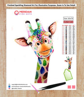 Colorful Giraffe 9 - Diamond Art Kit