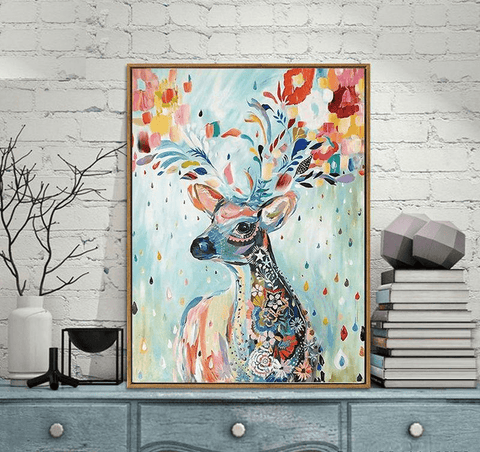 Colorful Abstract Deer - Paint by Numbers Kit