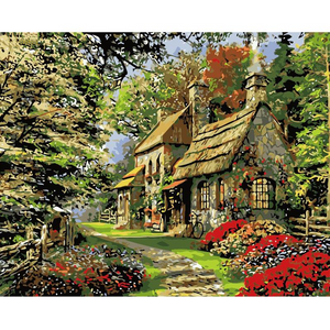 Cottage in the Countryside - Paint by Numbers Kit