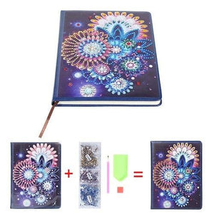 A5 Notebook With Diamond Art Cover (100 Pages)
