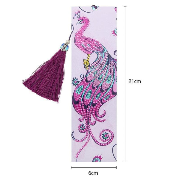 Diamond Art Leather Bookmark With Tassel Collection 2