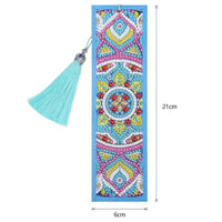 Diamond Art Leather Bookmark With Tassel Collection 3