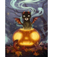 Demonic Halloween Cat - Halloween Collection Diamond Art