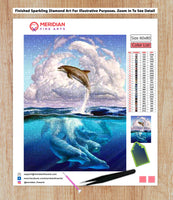 Dolphin Jump - Diamond Art Kit