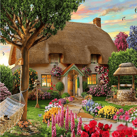 Dream Cottage in Countryside - Diamond Art Kit