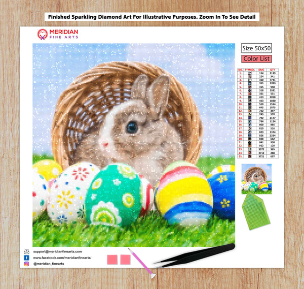 Easter Bunny  - Diamond Art Kit