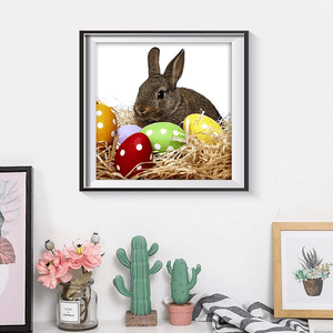 Easter Bunny And Eggs  - Diamond Art Kit