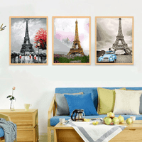 Eiffel Tower in Autumn in Living Room