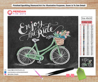 Enjoy The Ride Blackboard - Diamond Art Kit