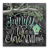 Family Blackboard - Diamond Art Kit