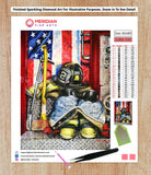 Firefighter Uniform - Diamond Art Kit