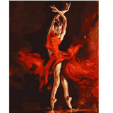 Flamenco Dancer - Paint by Numbers Kit